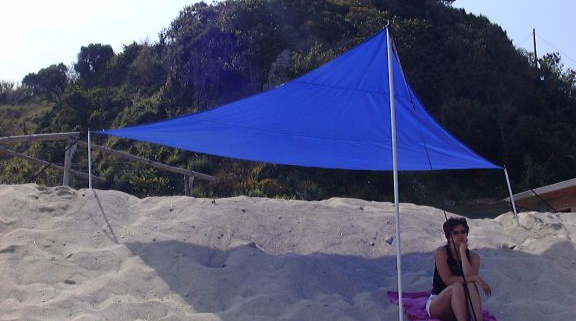 Sonnensegel gleichseitiges Dreieck 400 cm Kantenlänge